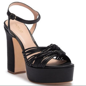 AUTHENTIC 9.5 Rachel Zoe Black Platform Sandal